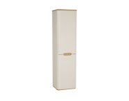 61423 - Sento Tall unit with laundry basket, 40 cm, Matte Cream, Left