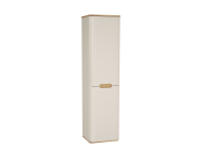 61426 - Sento Tall unit with laundry basket, 40 cm, Matte Cream, Right