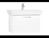 61436 - S20 Lavabo Dolabı, 65 cm, tek çekmeceli, Parlak Beyaz