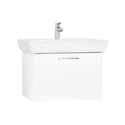 S20 Washbasin Unit, 65 cm, with 1 drawer, White High Gloss