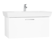61438 - S20 Washbasin Unit, 85 cm, with 1 drawer, White High Gloss
