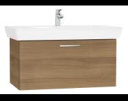 61439 - S20 Washbasin Unit, 85 cm, with 1 drawer, Golden Cherry