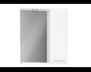 61444 - S20 Yandan Dolaplı Ayna, 60 cm, Parlak Beyaz
