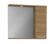 61447 - S20 Mirror with Side Cabinet, 80 cm, Golden Cherry