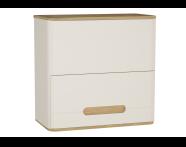 61524 - Sento Upper Cabinet, 70 cm, Matte Cream