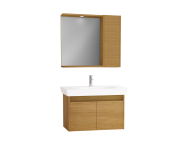 61533 - Step Flatpack Set, 85 cm, with doors, (Washbasin Unit, Mirror with Side Cabinet), Teak