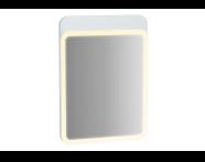 61649 - Sento Aydınlatmalı Ayna, 50 cm, Mat Beyaz