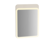 61651 - Sento Illuminated Mirror, 50 cm, Matte Cream