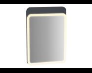61653 - Sento Illuminated Mirror, 50 cm, Matte Anthracite
