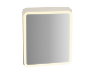 61655 - Sento Illuminated Mirror, 60 cm, Matte Cream