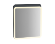 61656 - Sento Illuminated Mirror, 60 cm, Matte Anthracite