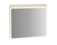 61658 - Sento Illuminated Mirror, 80 cm, Matte Cream