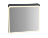 61659 - Sento Illuminated Mirror, 80 cm, Matte Anthracite