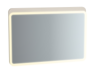 61661 - Sento Illuminated Mirror, 100 cm, Matte Cream