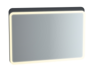 61662 - Sento Illuminated Mirror, 100 cm, Matte Anthracite