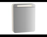 61670 - Sento Illuminated Mirror Cabinet, 50 cm, Matte Cream, right