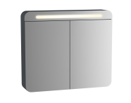 61674 - Sento Illuminated Mirror Cabinet, 60 cm, Matte Anthracite, left