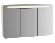 61685 - Sento Illuminated Mirror Cabinet, 120 cm, Matte Cream