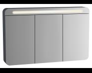 61686 - Sento Illuminated Mirror Cabinet, 120 cm, Matte Anthracite