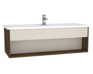 61967 - Integra Hotel Unit, 120 cm, with vanity basin, Cashmere & Metallic Walnut