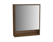 61988 - Integra Mirror Cabinet, 60 cm, Cashmere & Metallic Walnut, left