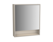 61989 - Integra Mirror Cabinet, 60 cm, Grey Elm & Gritstone, left