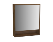 61991 - Integra Mirror Cabinet, 60 cm, Cashmere & Metallic Walnut, right