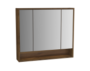 61994 - Integra Mirror Cabinet, 80 cm, Cashmere & Metallic Walnut