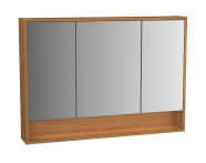 61996 - Integra Mirror Cabinet, 100 cm, White High Gloss & Bamboo