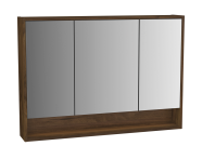 61997 - Integra Mirror Cabinet, 100 cm, Cashmere & Metallic Walnut