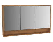61999 - Integra Mirror Cabinet, 120 cm, White High Gloss & Bamboo