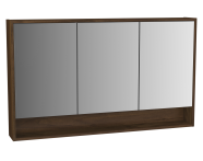 62000 - Integra Mirror Cabinet, 120 cm, Cashmere & Metallic Walnut