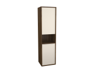 62003 - Integra Tall Unit, 40 cm, with laundry basket, Cashmere & Metallic Walnut, left