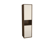 62006 - Integra Tall Unit, 40 cm, with laundry basket, Cashmere & Metallic Walnut, right