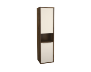 62009 - Integra Tall Unit, 40 cm, Cashmere & Metallic Walnut, left