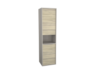 62010 - Integra Tall Unit, 40 cm, Grey Elm & Gritstone, left