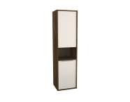 62012 - Integra Tall Unit, 40 cm, Cashmere & Metallic Walnut, right