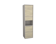 62013 - Integra Tall Unit, 40 cm, Grey Elm & Gritstone, right