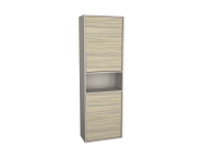62016 - Integra Narrow Tall Unit, 50 cm, Grey Elm & Gritstone, left