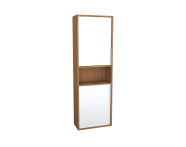 62017 - Integra Narrow Tall Unit, 50 cm, White High Gloss & Bamboo, right