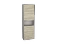 62019 - Integra Narrow Tall Unit, 50 cm, Grey Elm & Gritstone, right