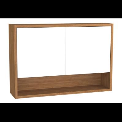 Integra Upper Unit, 70 cm, White High Gloss & Bamboo