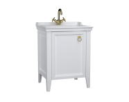 62150 - Valarte Washbasin Unit, 65 cm, with doors, with vanity washbasin,one faucet hole, Matte White, left