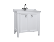 62153 - Valarte Washbasin Unit, 80 cm, with doors, with vanity washbasin, one faucet hole, Matte White