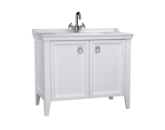 62156 - Valarte Washbasin Unit, 100 cm, with doors, with vanity washbasin, one faucet hole, Matte White
