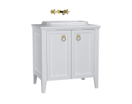 62168 - Valarte Washbasin Unit, 80 cm, with doors with countertop washbasin, Matte White