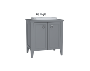 62169 - Valarte Washbasin Unit, 80 cm, with doors, with countertop washbasin, Matte Grey