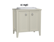 62170 - Valarte Washbasin Unit, 80 cm, with doors, with countertop washbasin, Matte Ivory