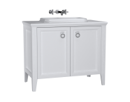 62171 - Valarte Washbasin Unit, 100 cm, with doors, with countertop washbasin, Matte White