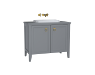 62172 - Valarte Washbasin Unit, 100 cm, with doors, with countertop washbasin, Matte Grey